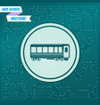 passenger wagons train icon on a green background vector image