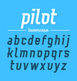 pilot modern aviator font lowercase letters vector image vector image