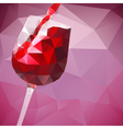 pouring wine vector image vector image