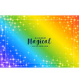 rainbow colors background with sparkles vector image