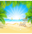 relax on a tropical island vector image vector image