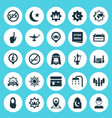 religion icons set collection of mecca mosque vector image vector image