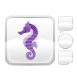 Sea summer beach and travel icon with seahorse on vector image vector image