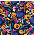 Seamless pattern Halloween vector image vector image