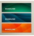 Set abstract bright pictures of green orange blue vector image vector image