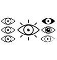 set eye line icons vector image vector image