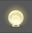 shining crystal ball on a transparent background vector image