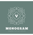 Simple and graceful monogram design template vector image vector image