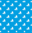 skates pattern seamless blue vector image vector image