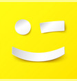 smile in paper style with a realistic shadow vector image