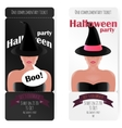 Stylish ticket to the party of Halloween vector image vector image