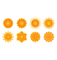Sunny icons vector image vector image