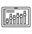 tablet business graph icon outline style vector image vector image