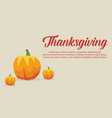 thanksgiving card collection style vector image vector image
