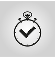 The stopwatch icon Clock and watch timer vector image vector image