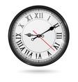 vintage clock with roman numerals vector image vector image