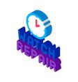 watch repair logo isometric icon vector image vector image