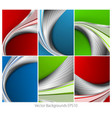 Wavy backgrounds set vector image