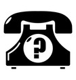 retro phone icon simple black style vector image
