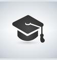 black graduation cap icon vector image