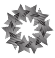 Abstract striped star backdrop vector image