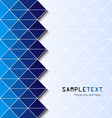 Abstract triangylar background eps10 vector image