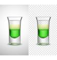 Alcohol Drinks Colored Glassware Transparent vector image