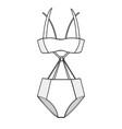 Beachwear fashion flat templates9