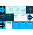 Blue infographic calendar 2014 with arrows vector image