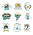 Bowling Clubs Vintage Style Logos vector image vector image