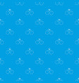 boxing gloves pattern seamless blue vector image