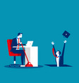 business people and job insecurity concept vector image vector image