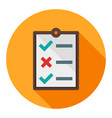 business to do list flat icon modern style vector image