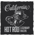 california legendary racers poster vector image vector image