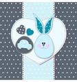 Card with bunny for invitations shower greeting vector image