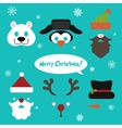 Christmas photo booth and scrapbooking set vector image vector image