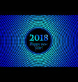 circle banner with year 2018 label vector image