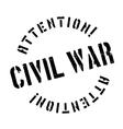 Civil War rubber stamp vector image