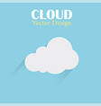 cloud design template cloud blue background vector image