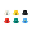 colorful hats flat design vector image vector image