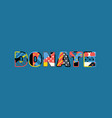 donate concept word art vector image