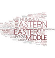 eastern word cloud concept vector image vector image
