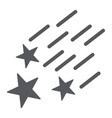 falling stars glyph icon night and forecast vector image