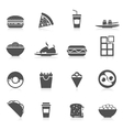 Fast Food Icons Black vector image