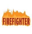 Fire logo cartoon style vector image