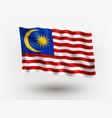 flag malaysia vector image vector image
