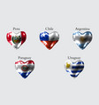 flags of america countries the flags of peru vector image vector image