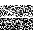 floral ornament as tattoo strip vector image