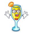 geek mimosa character cartoon style vector image vector image