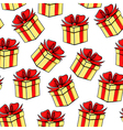 gift contour pattern vector image vector image